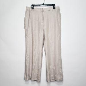 1901 linen blend wide leg trousers